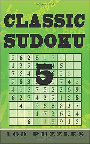 Classic Sudoku 5 100 Puzzles Level 3 Medium Pocket Travel
