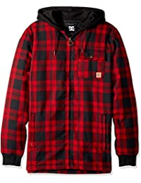 Mens Backwoods Insulated Flannel Shirt Water Proof Snowboard Jacket
