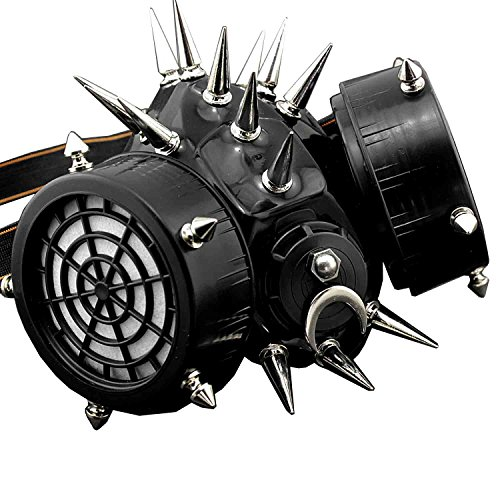 Spike Rivet Steampunk Masquerade Gas Face Mask Cosplay Costume Party -
