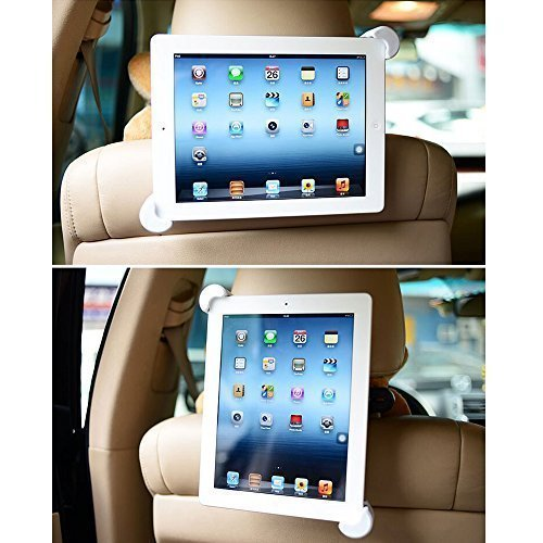 BESTEK Car Headrest Mount Tablet Holder for iPad 2017/2/3/4/iPad Air/2/iPad Mini 1/2/3/4/iPad Pro 9.7 and Other 7-10 inch Tablets, 360 Degree Rotation