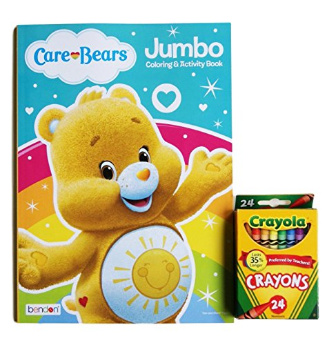 Care Bears ''Funshine Bear'' Jumbo Coloring and Activity Book with Crayola Crayons (Care Figurines Bears)