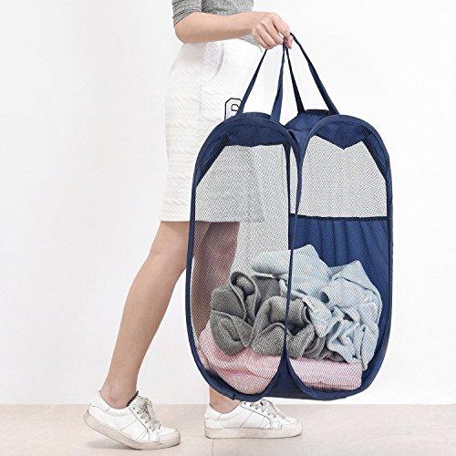 Pop-up Laundry Hamper, MaidMAX Foldable Mesh Ba...