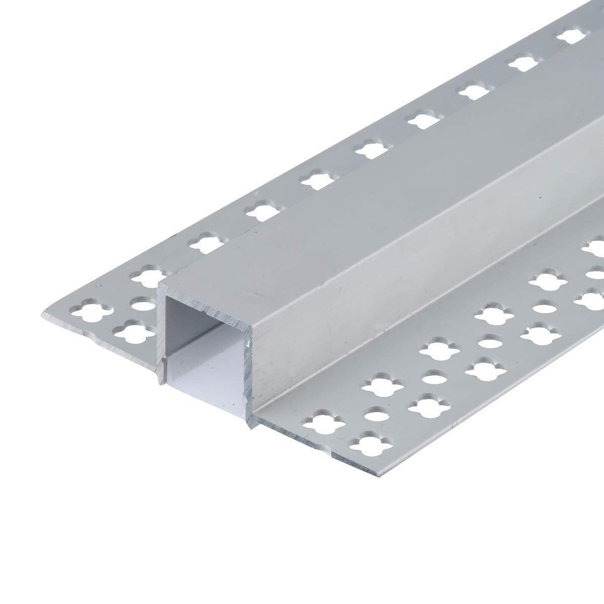 StarlandLed 5-Pack 6.6FT/2 Meter Plaster-in Recessed Slim LED Aluminum Channel with Flange for LED Strip, Aluminium LED Profile with Clip-in Diffuser and End Caps by StarlandLed (Image #4)
