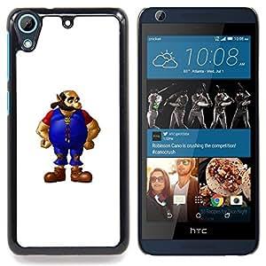 """Hombre barbado"""" - Metal de aluminio y de plástico duro Caja del teléfono - Negro - HTC Desire 626 626w 626d 626g 626G dual sim"""