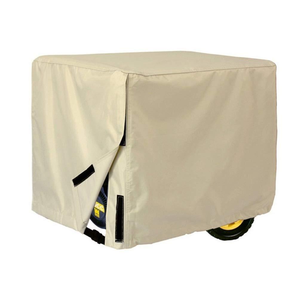 Weather/UV Resistant Generator Cover, 600D Oxford Fabric for Universal Portable Generators 5000-10,000 Watt - 66x51x51cm/81x61x61cm/96x76x71cm (Color : Black, Size : 66x51x51cm) by Outdoor furniture cover