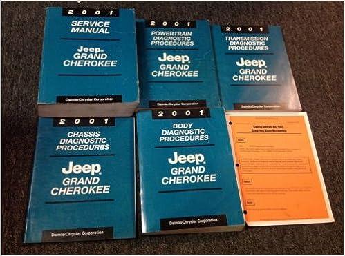 2001 jeep grand cherokee service repair manual set oem.