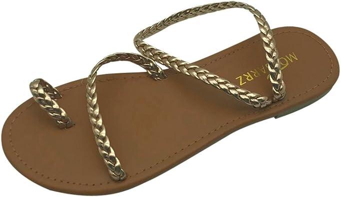 Summer Women Platform Slipper Slip On Flip Flops Buckle Sandals Beach Thong JJ