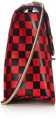 porté Caty Sac CAESARS et épaule L'AETELIER Rouge Rouge Noir qHwPfzxC