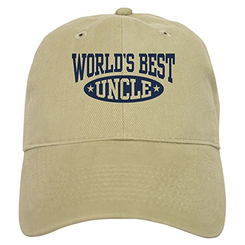 CafePress World's Best Uncle - Baseball Cap with Adjustable Closure, Unique Printed Baseball Hat (Cap Uncle Family)