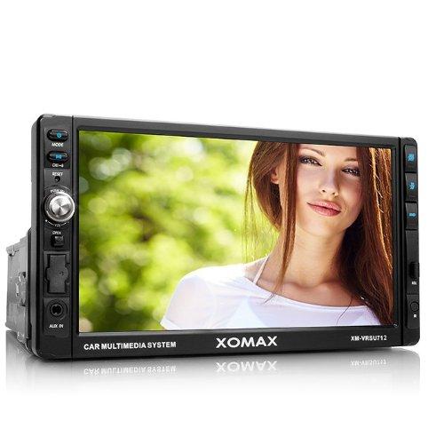 XOMAX XM-VRSU712 Autoradio / Radio de coche Moniceiver con 18 cm / 7 'pantalla táctil' + conexión USB (hasta 32 GB!) y ranura para tarjeta SD (hasta 32 GB!) para archivos