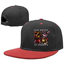 AAWODE Kid's Five Nights At Freddy's Game Plain Adjustable Snapback Hats Caps