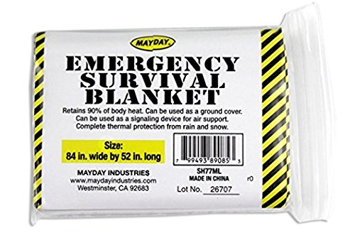Mayday Industries Emergency Survival Solar Blanket - 1 Person
