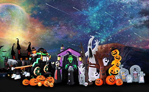 Bigjoys 8 Ft Halloween Inflatable Tree with Ghost Pumpkin Decoration for Indoor Outdoor Home Yard Party by Bigjoys (Image #6)