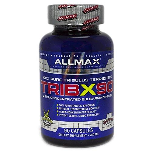 ALLMAX Nutrition Trib X 90, Natural Testosterone Booster, 90 Capsules