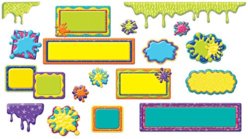 Eureka Color My World Frames, Drips and Splashes Mini Bulletin Board Set ()