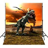 Photography Backdrop 5x7 Tyrannosaurus Rex Dinosaur Photo Background Kids No Wrinkle Boy Birthday Party Backdrops