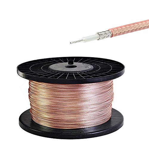 wlaniot RG 316 Cable Low Loss RF Coaxial Coax Cable for DIY 60 Feet (18.28 Meters)