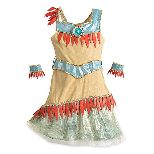 Disney Pocahontas Costume for Kids Size 13 Brown