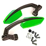 Yibid Green Motorcycle Rearview Side Mirrors Universal for Scooter Buggy Taotao GY6 Dirt Street Sports Bike