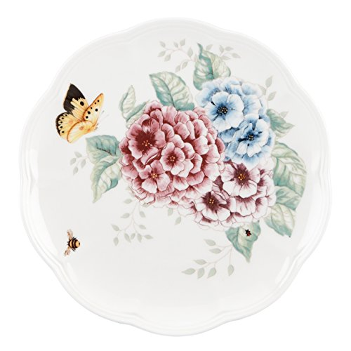 Lenox Butterfly Meadow Hydrangea Accent/Salad Plate, White