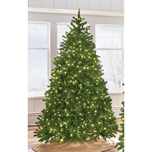 Artificial Christmas Trees Martha Stewart - 7.5 ft. Indoor Pre-Lit LED Downswept Douglas Fir Artificial Christmas Tree