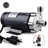 Ferroday Magnetic Drive Pump, Food Grade High Temperature Stainless Head Magnetic Pump 15RM with 1/2' NPT Thread Home Brew