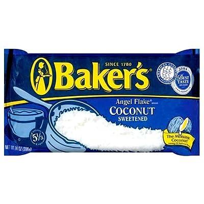 Bakers Angel Flake Sweetened Coconut 14 Oz (Pack of 3 Multipack)