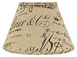 AHS Lighting SD1478-12WE Bk French Script Empire Lamp Shade with Washer, 12''