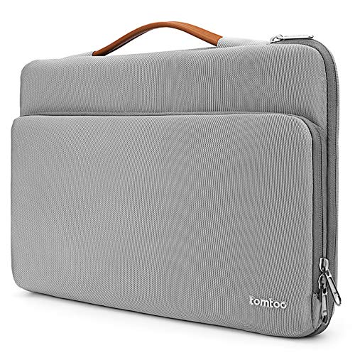 tomtoc 360° Protective Laptop Handle Sleeve Fit For 2018 New MacBook Air | 12.3 Inch Surface Pro 6/5/4 | 13″ New MacBook Pro with USB-C A1989 A1706 A1708, Ultrabook Notebook Briefcase Accessory Bag