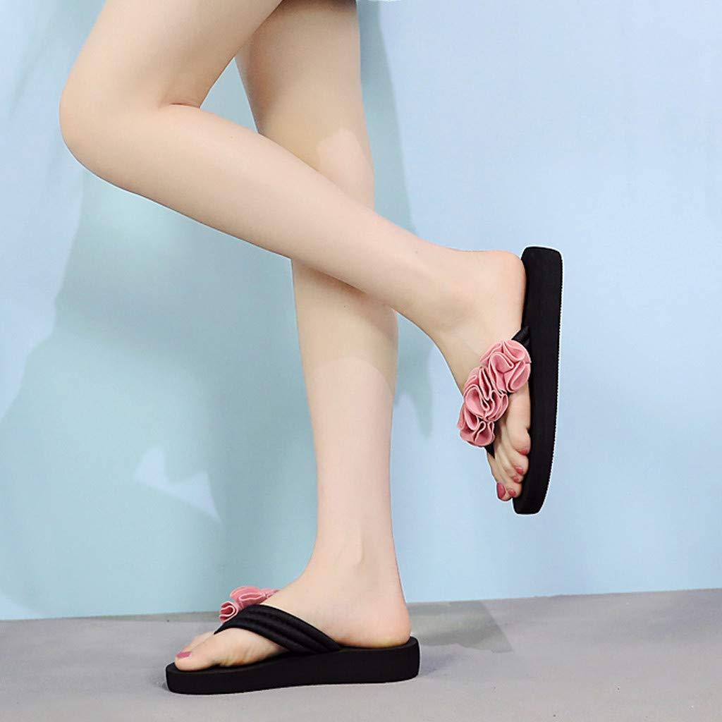 Sandali Infradito Donna Bassi Eleganti Scarpe Donna Sandali Estivi Donna Sandali Comodi Estate Moda Donna Fiore Clip Toe Infradito Antiscivolo Zeppe Spiaggia Pantofole