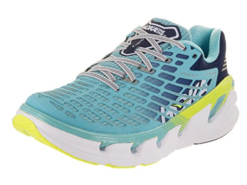 HOKA ONE ONE Women s Vanquish 3 Blue Synthetic Leather Running Shoes 7.5