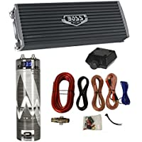 NEW Boss AR3000.2 3000 Watt 2-Channel Car Audio Amplifier + Capacitor + Amp Kit