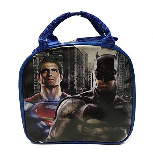 (Batman vs Superman Blue Lunch bags/box with Water Bottle)