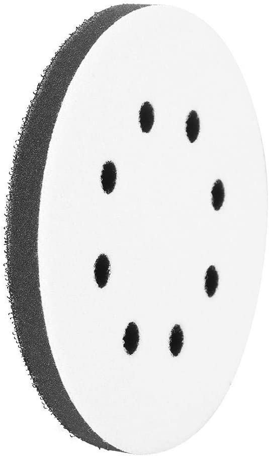 Sanding Soft Pad,125mm Diameter Soft Buffer Sponge Interface Cushion Pad for Sanding Pads 8 Holes