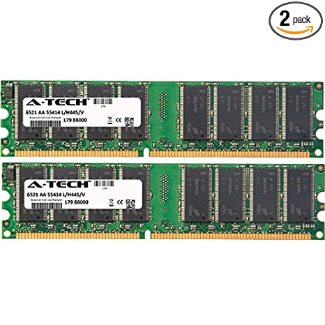1gb memory ram for emachines t series t6410 184pin pc3200 400mhz.