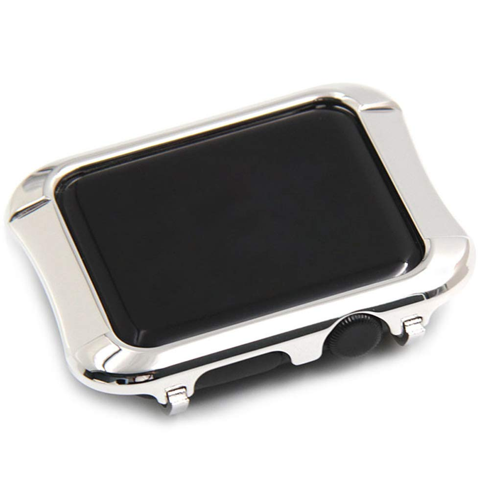 YALTOL for Iwatch/Apple Watch Series 4/3/2/1 Protection Frame with Metal Case Frame Bezel,40mm,44mm,38mm,42mm,Silver,44mm