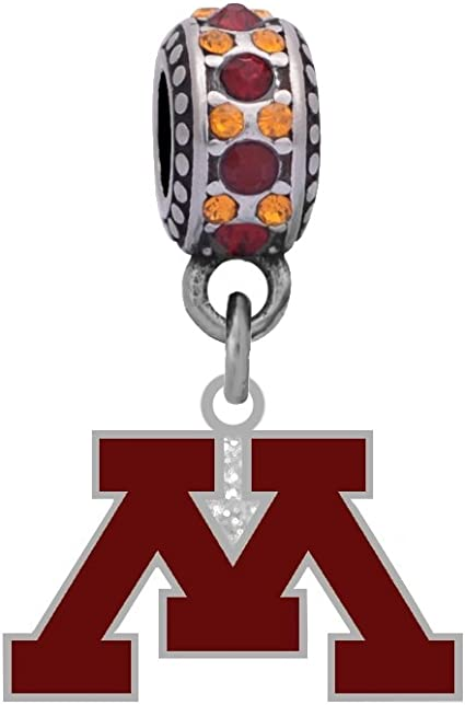 Final Touch Gifts University of Louisville Crystal Logo Charm Fits European Style Large Hole Bead Bracelets