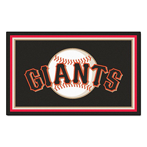 (FANMATS MLB San Francisco Giants Nylon Face 4X6 Plush Rug)