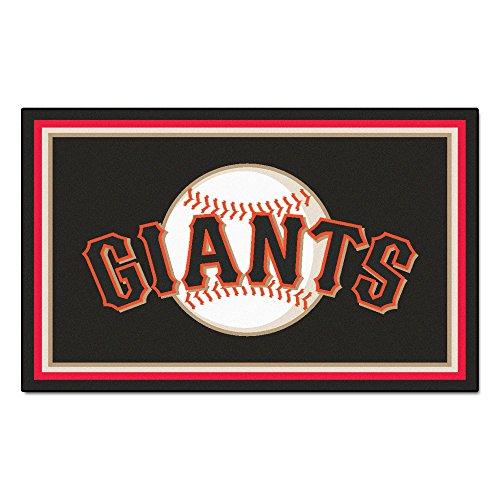 FANMATS MLB San Francisco Giants Nylon Face 4X6 Plush Rug ()