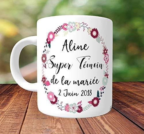 55588ade92dd Mug Super Témoin de la mariée à personnaliser - Idée Cadeau témoin, cadeau  témoin mariage