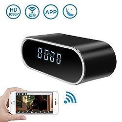 Wireless Security WiFi Hidden Camera Clock,DareTang HD 1080P Spy Camera with Motion Detection & Night Version