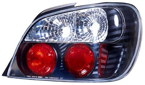 IPCW CWT-850B2 Subaru Impreza WRX Bermuda Black Tail Lamp with Crystal Eyes - Pair by IPCW