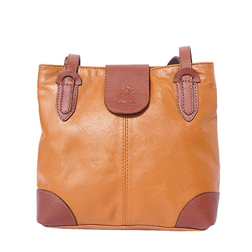 015 Medium Shoulder Bag Tan-brown