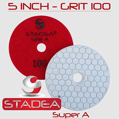 Stadea Diamond Polishing Pad 5'' Dry - Concrete Granite Stone Glass Polishing Grit 50, DPPD05SPRA050G1P by STADEA (Image #3)