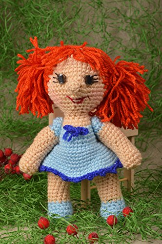 (Handmade Doll Designer Doll Gift for Baby Crocheted Doll Nursery Decor)