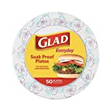 """Round Disposable Paper Plates 10 in, Blue Flower