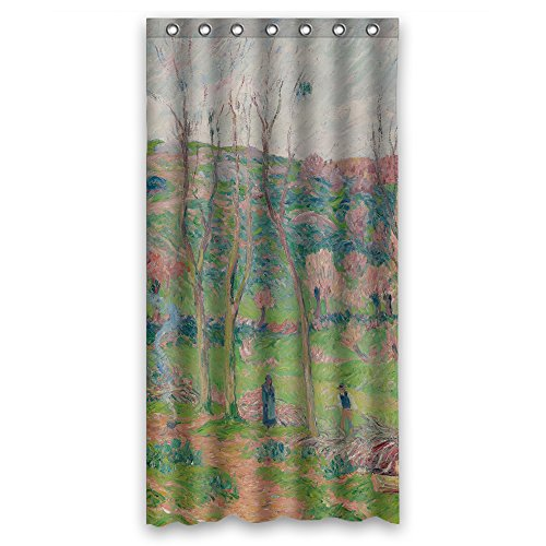 MaSoyy Polyester Henry Moret - L Hiver En Bretagne Bath Curtains Width X Height / 36 X 72 Inches / W H 90 By 180 Cm Gift Or Decor For Girls Lover Couples Artwork Lover. Anti Bacterial - ()