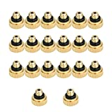 KUWAN 20pcs Brass Misting Nozzles for Cooling