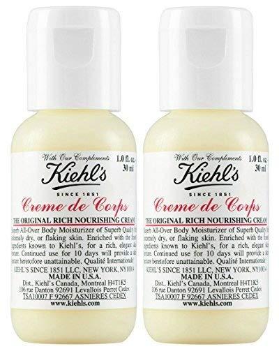 (Kiehls creme de corps body moisturizer, Set of 2, Total 2oz/60ml)