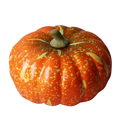 JUSTDOLIFE Artificial Pumpkin Halloween Fake Pumpkin Realistic Halloween Artificial Vegetables Home Decor Vegetables -